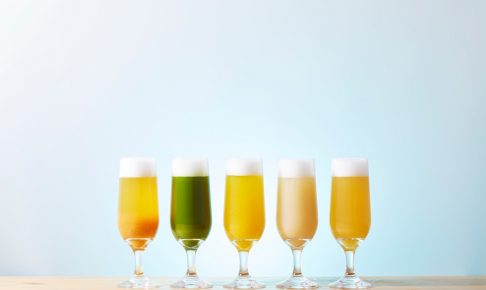 「柿ビール」「抹茶ビール」「南瓜ビール」「栗ビール」 「りんごビール」