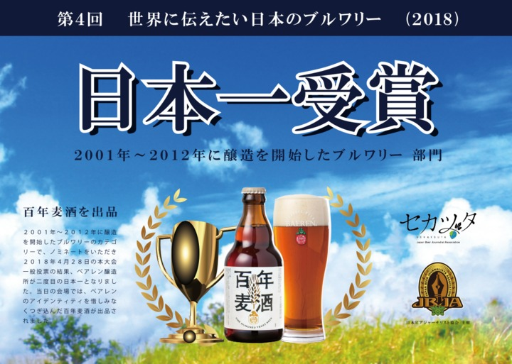ベアレン醸造所 百年麦酒 父の日 日本一