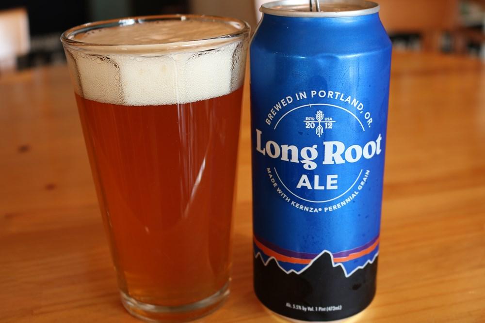 patagonia ロング・ルート・エール 缶とグラス