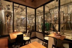 併設するレストランから見た大和醸造