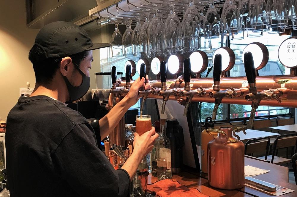 ふたこビールのドラフトビール